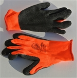 Black Latex High-vis Thermal Gloves